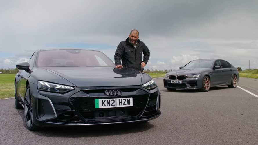 Chris Harris Compares Electric Audi RS E-Tron GT And BMW M5 CS