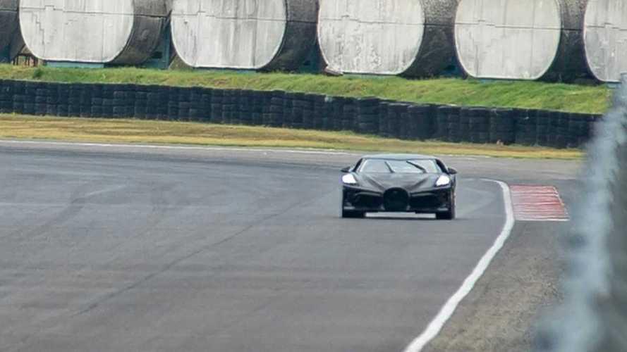 Bugatti La Voiture Noire, pruebas en circuito