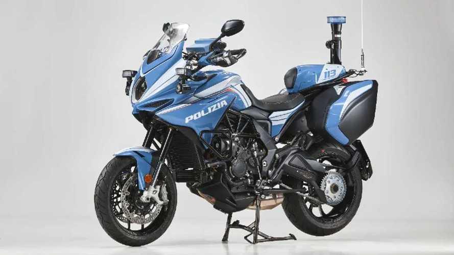 Milan Police Issued MV Agusta Turismo Veloce Patrol Bikes