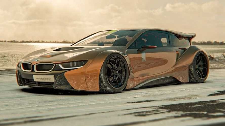 bmw i8 shooting brake rendering