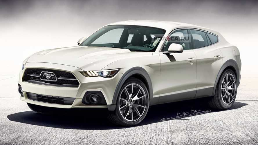 Ford Mustang-inspired SUV rendered as rugged estate