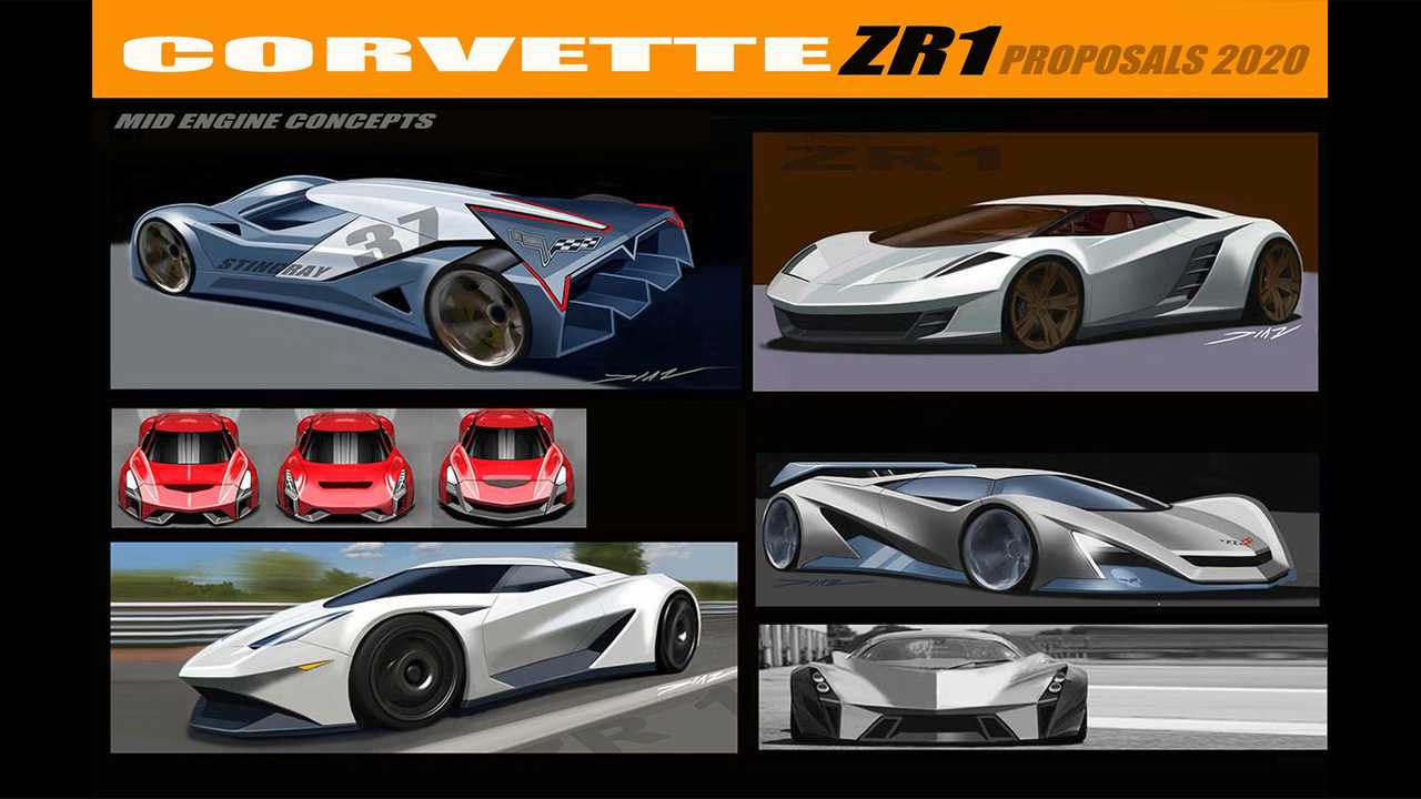 Early Mid-Engine Corvette Design Sketches Show A Different ...