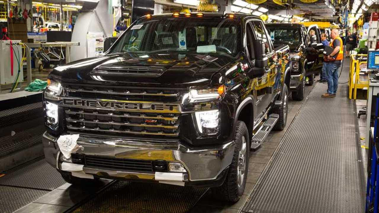 Chevrolet Silverado HD On Assembly Line