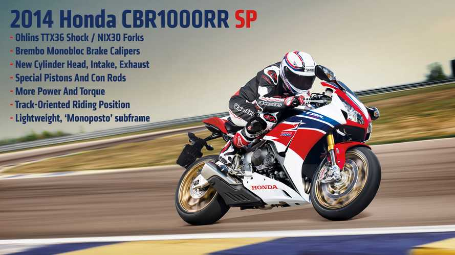 2014 Honda CBR1000RR SP: First Photos and Specs