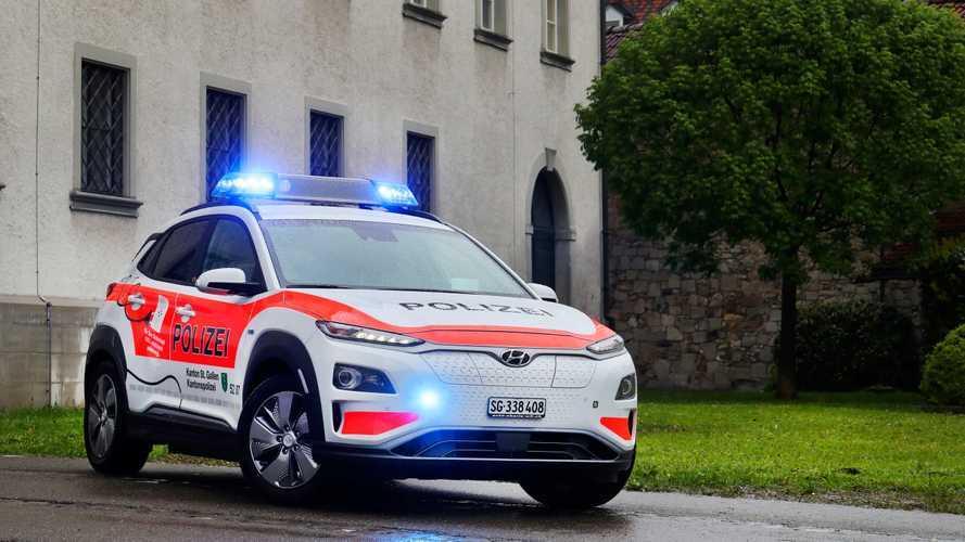 La police suisse s'équipe de treize Hyundai Kona electric