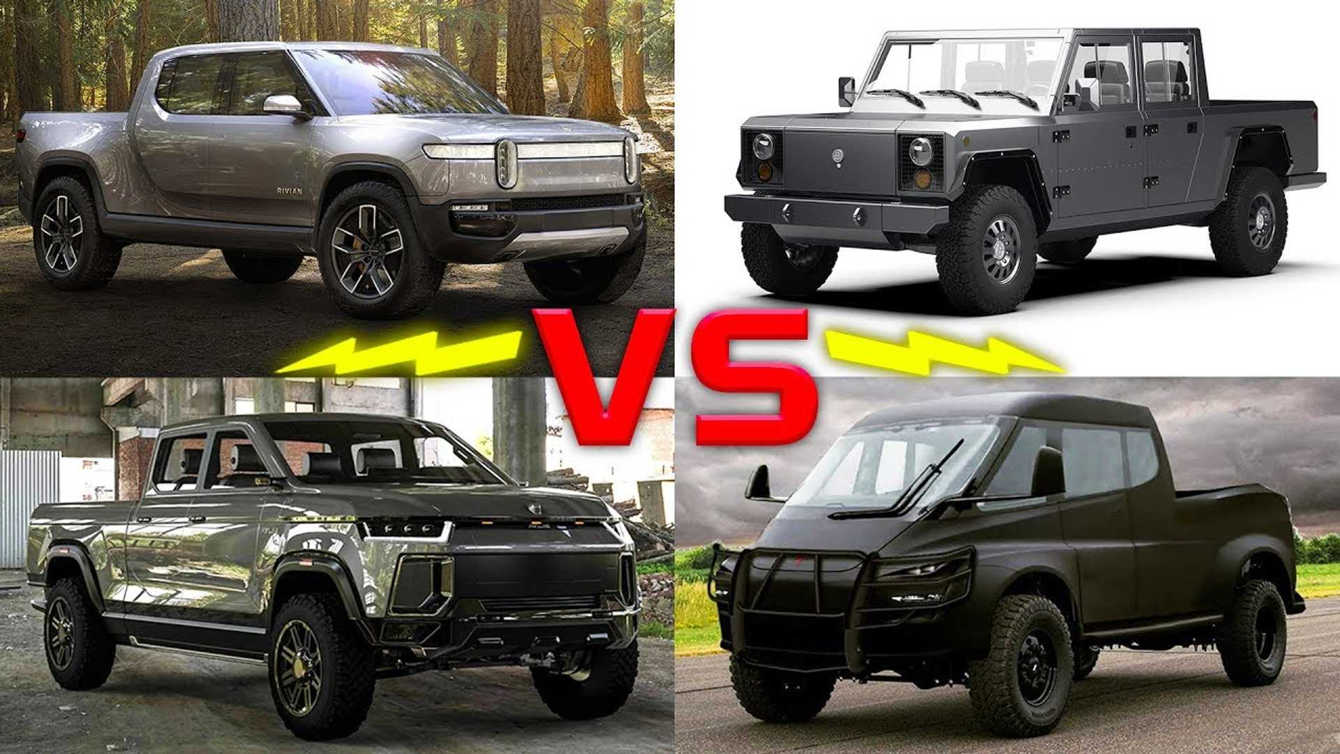 Electric Pickup Trucks Compared: Tesla, Rivian, Atlis, Bollinger
