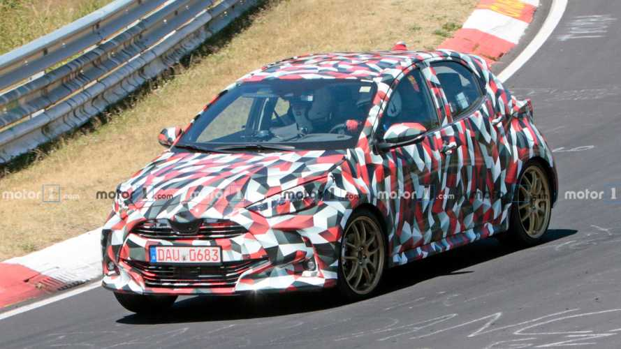 Next-gen Toyota Yaris Sport, Hybrid spied testing at the 'Ring