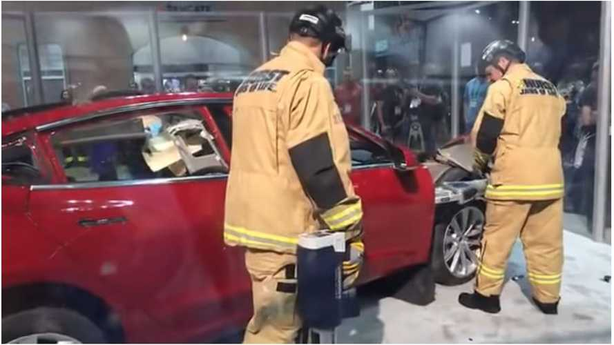Watch Jaws Of Life Demo On 2018 Tesla Model 3