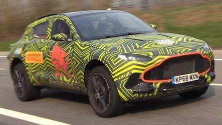Nürbrugring'de yakalanan Aston Martin DBX'in sesine kulak verin
