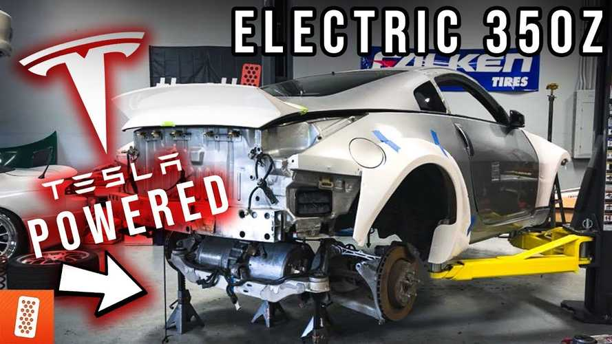 World First: Check Out This Tesla-Powered Nissan 350Z