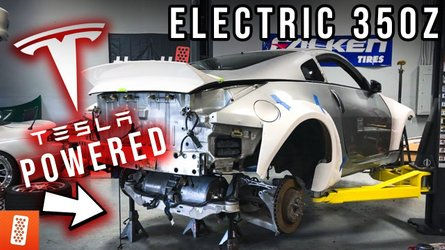 This Tesla-powered Nissan 350Z is a world first