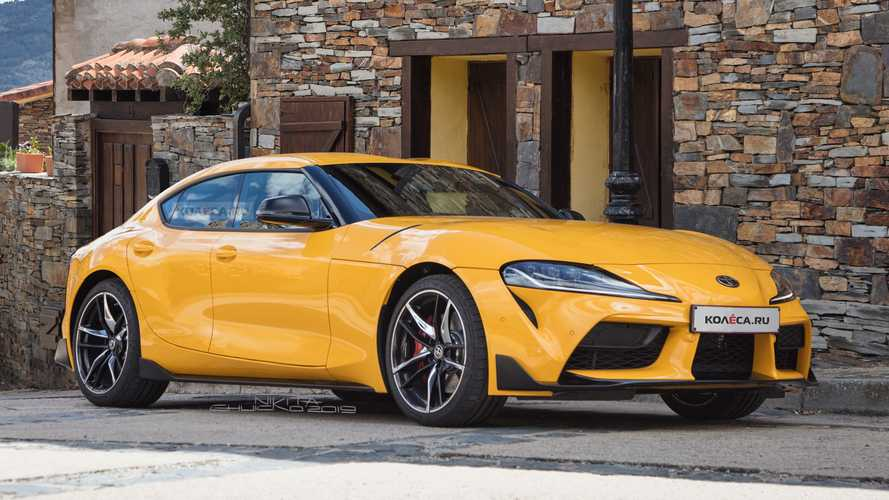 Toyota Supra four-door rendering doesn't look half bad