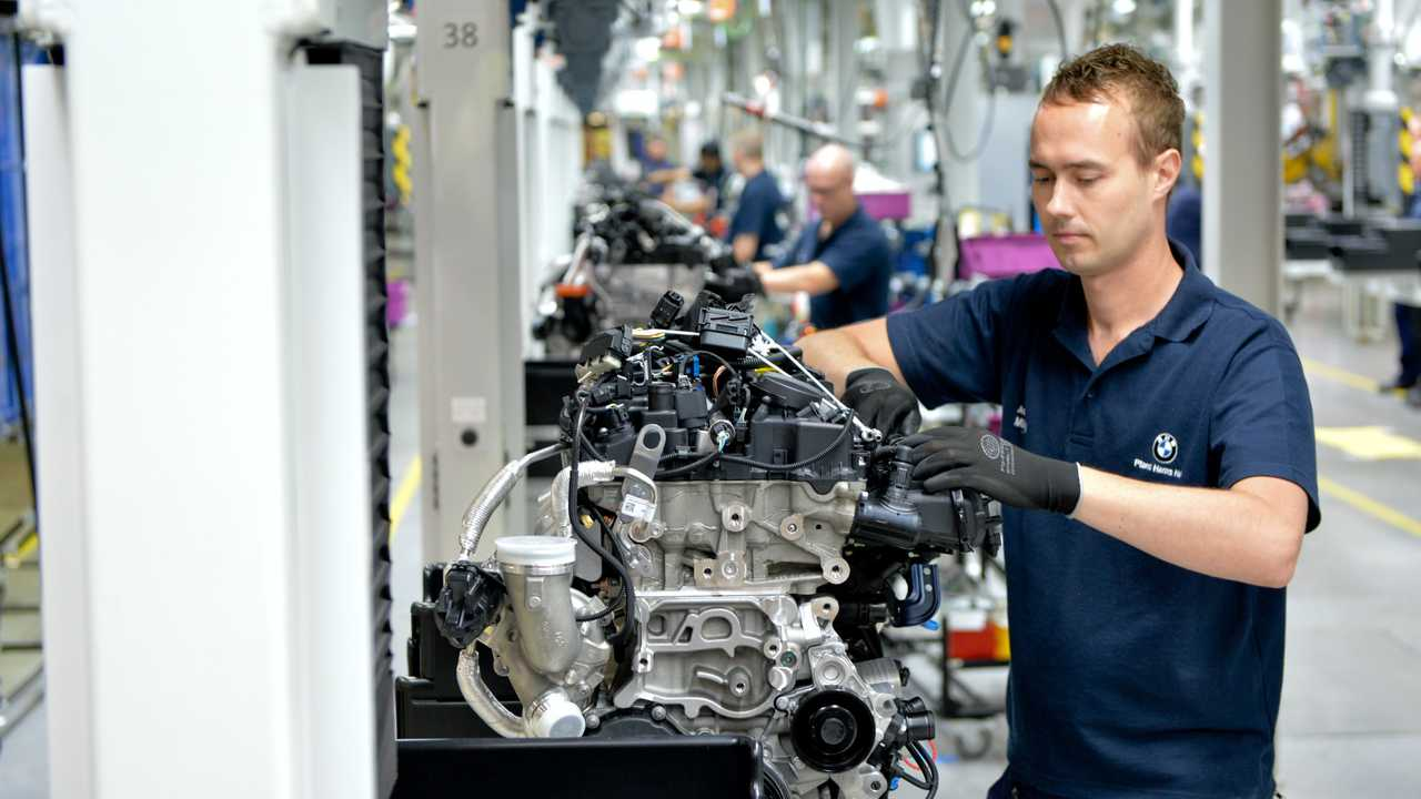 Production of engines at BMW Plant Hams Hall UK