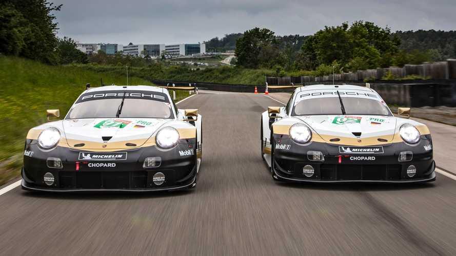 Porsche celebrates WEC title with gold Le Mans liveries