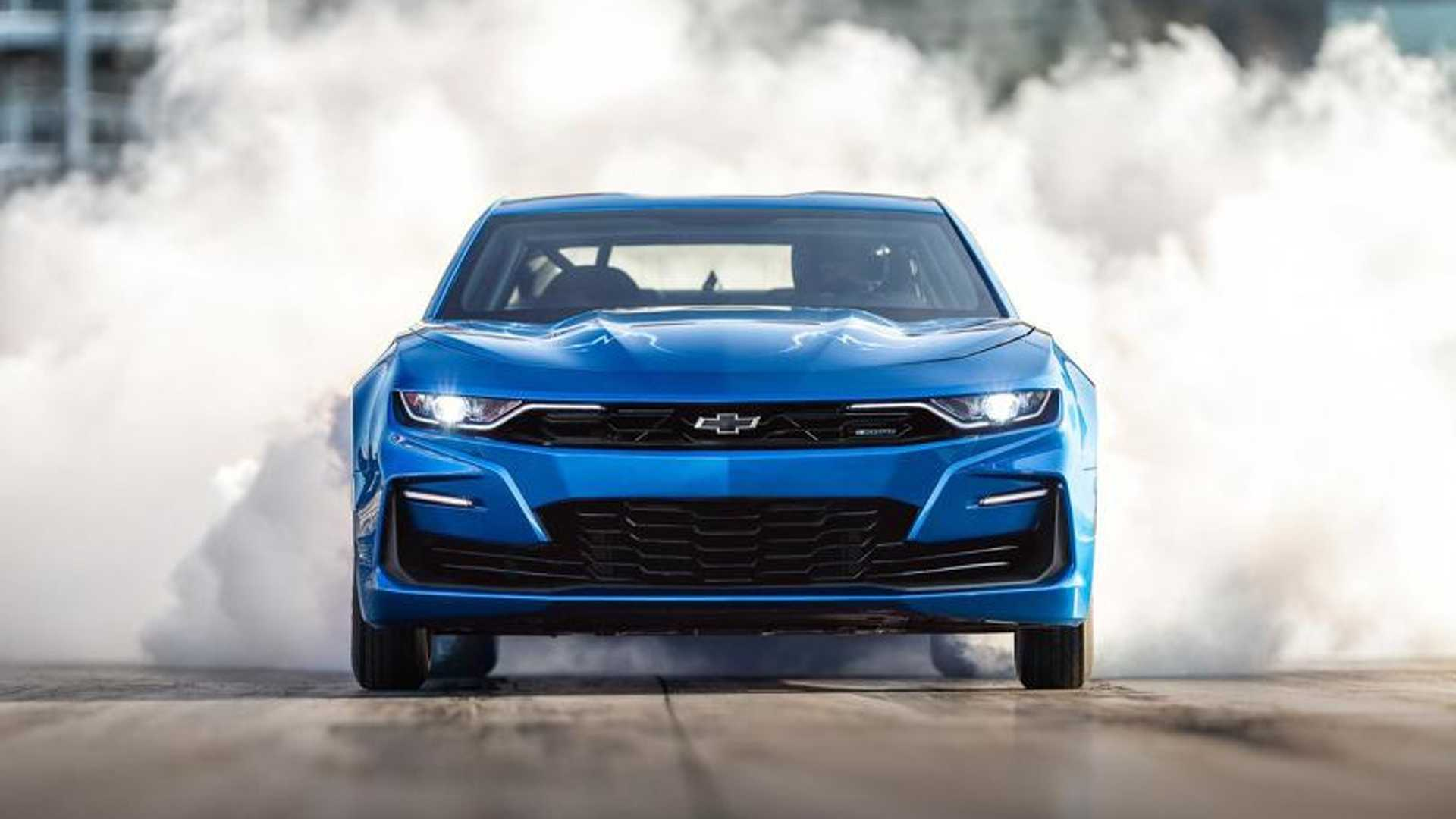 """[""""GM Auctioning One-Off Electric COPO Camaro Drag Car At Monterey""""]"""