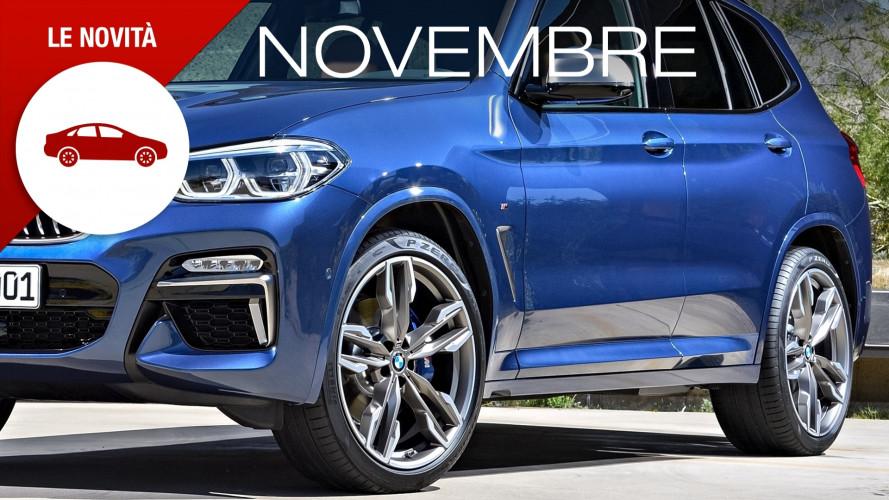 Novità auto novembre, tanti SUV e berline che provano a non esserlo