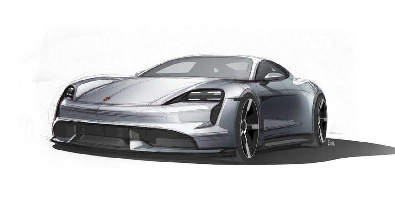 Porsche Releases Latest Taycan Design Sketches Ahead Of Reveal