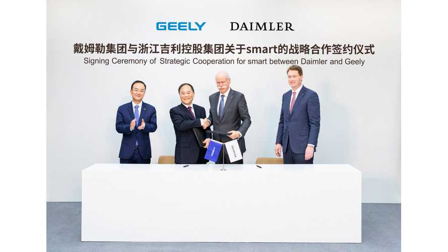 Daimler Forms Global Joint Venture With Geely To Develop Smart