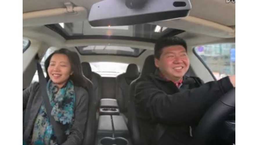 Chinese Reactions To Insane Tesla Model S P85D Launch - Video