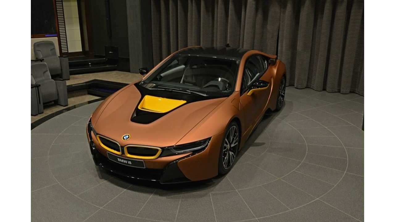 BMW i8 Wrapped In Matte Copper