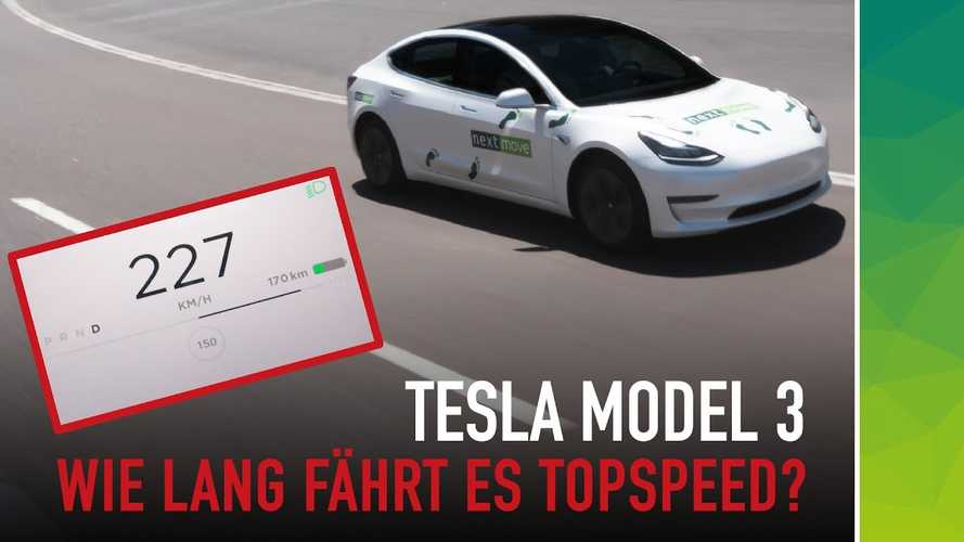 Tesla Model 3 Hits The Autobahn