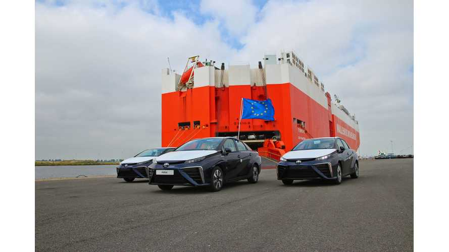 First Five Toyota Mirais Arrive In Europe