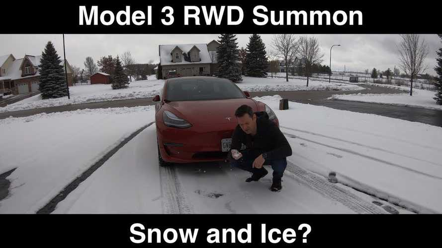 Does Tesla Model 3 Summon Work On Snow & Ice?