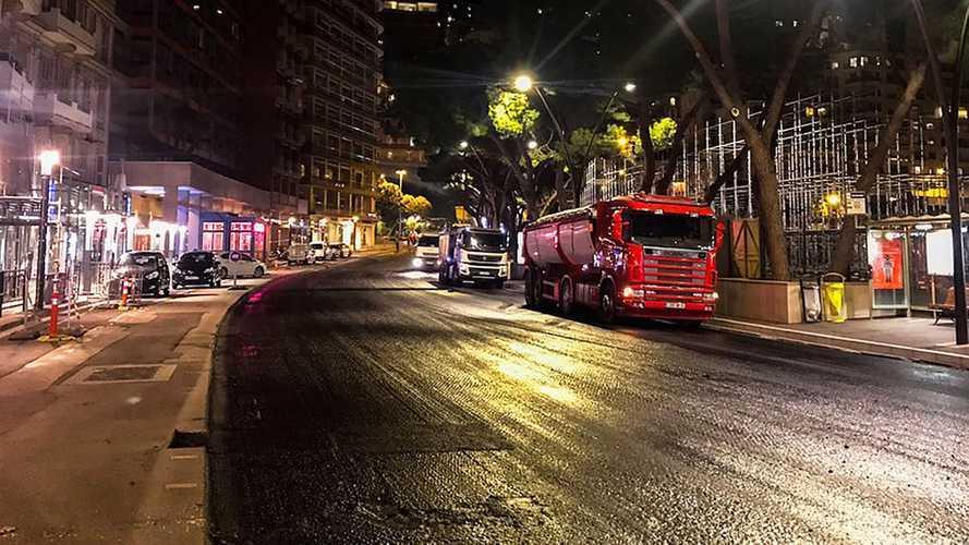 F1, Montecarlo si prepara al GP rifacendo l'asfalto