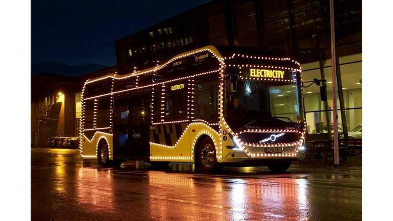 volvo electric christmas bus