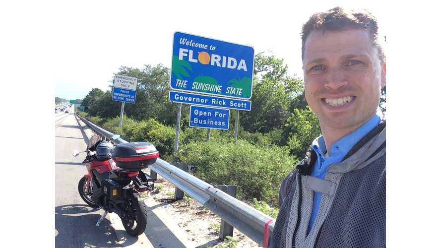 Three Country Tour on an Electric Motorcycle - Georgia & Florida