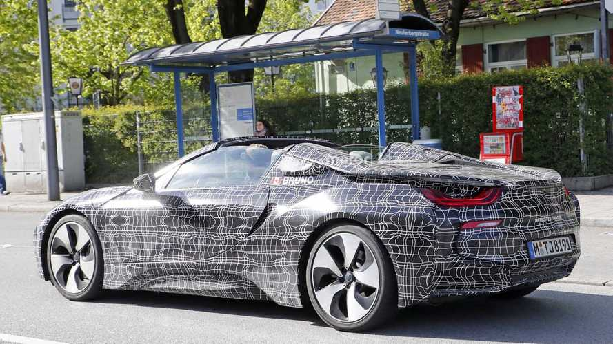 BMW i8 Spyder Spied With Top Up, Down