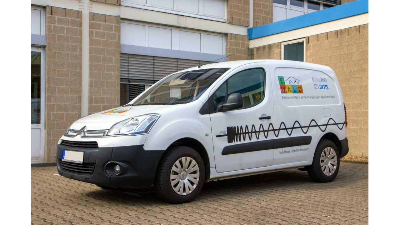 30kW inductive charging with CHAdeMO - Citroën Berlingo BEV