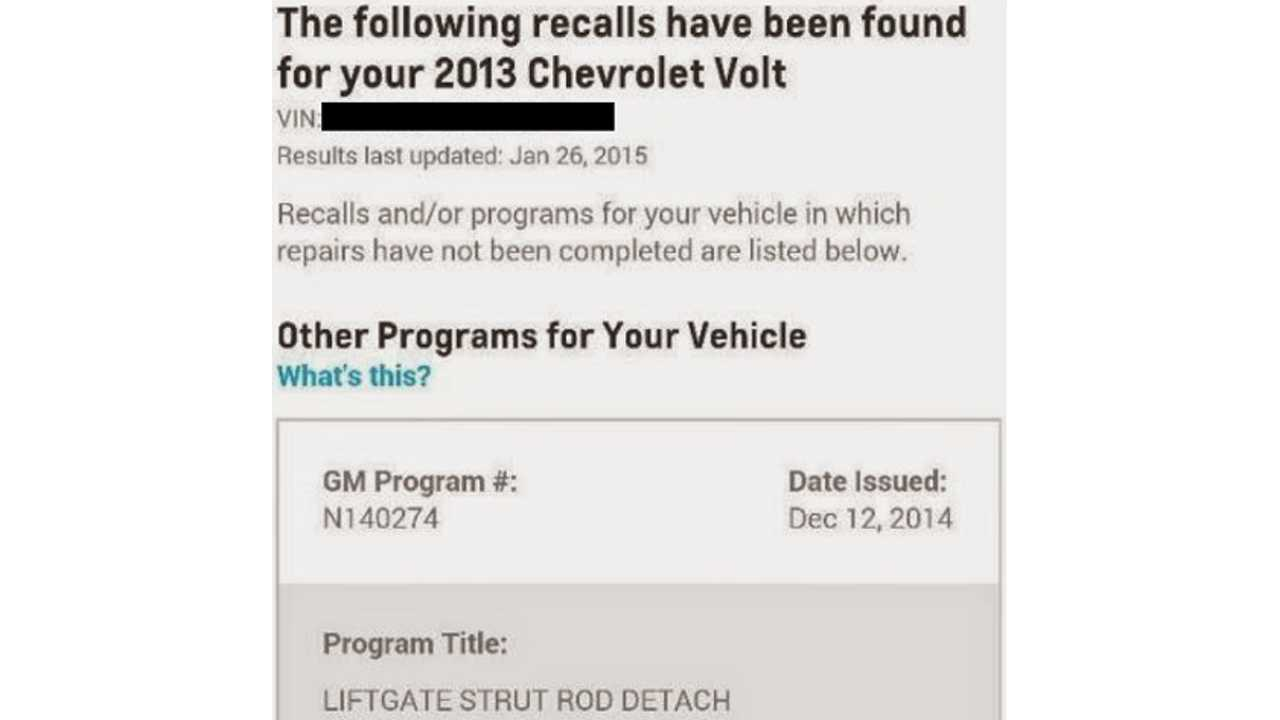 GM Notes New Chevrolet Volt Issues For