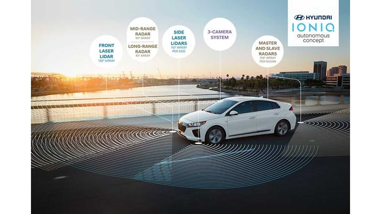 Hyundai Motor Company Presents Self Driving IONIQ with Hidden LiDAR
