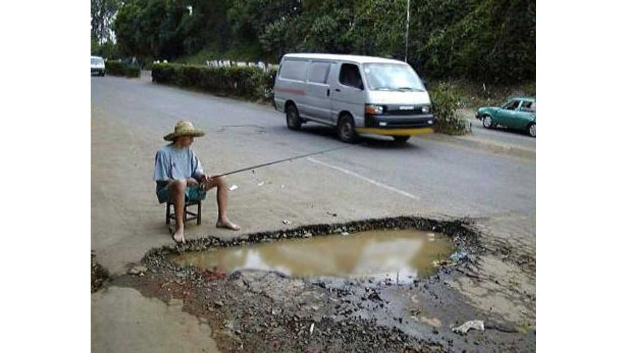 Now That's A Real Pothole