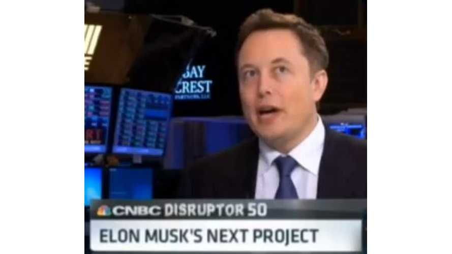 Elon Musk CNBC Disruptor 50 Interview
