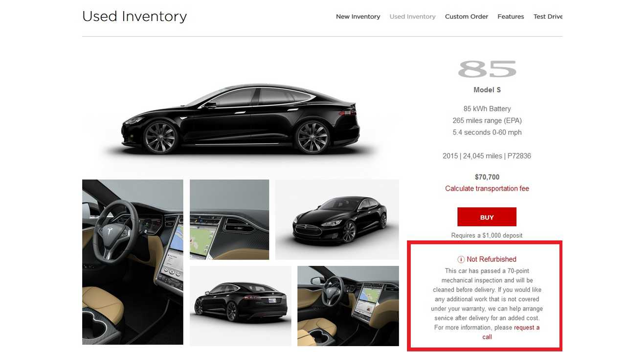 Update Tesla Changes Cpo Program Cars Mechanically Inspected