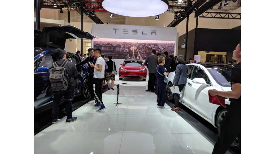 Tesla Model 3 Debuts At Auto China 2018