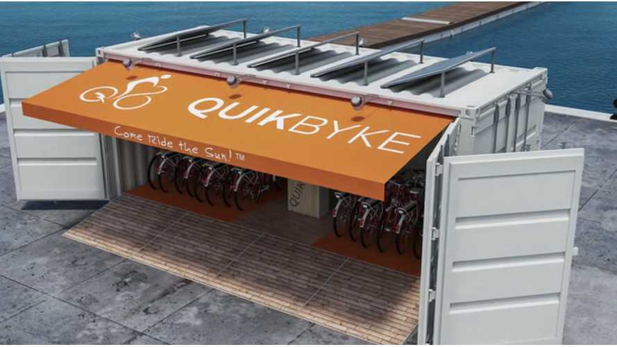 Kickstarter QuikByke Hopes To Rent Out Electric Bikes From Solar Powered Shipping Containers