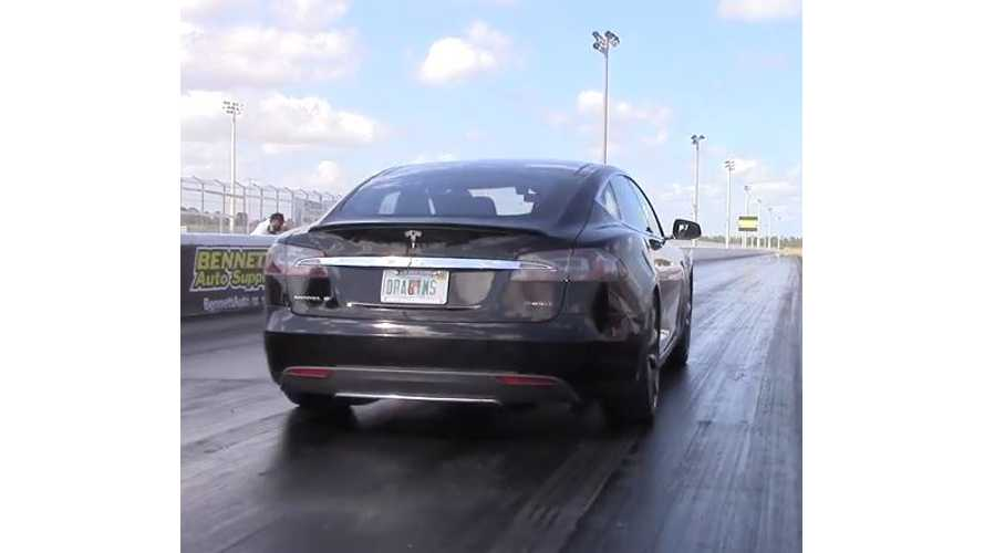 Tesla Model S P85D Runs 11.6 Second @ 116 MPH - 1/4-Mile Drag Video