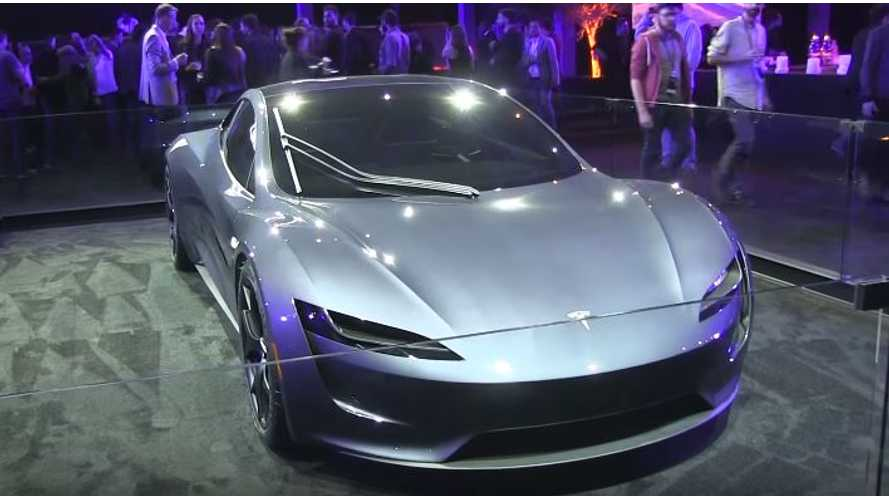 First Look At New Silver Tesla Roadster - Video