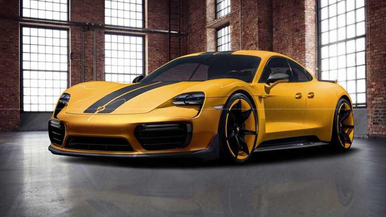 Porsche Taycan Rendered Into View