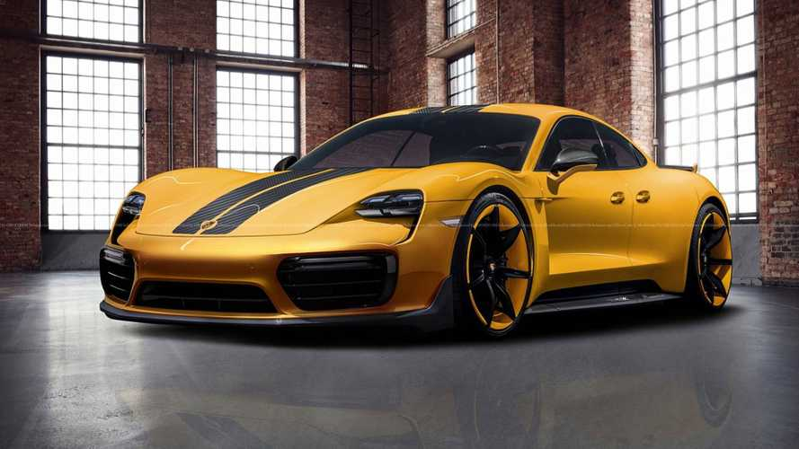 Porsche Taycan Rendered Into View