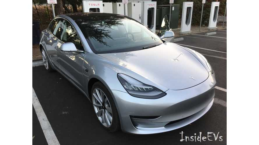 Is Tesla Shipping Model 3 With 2X Model S P100D Supercharging C Rate?