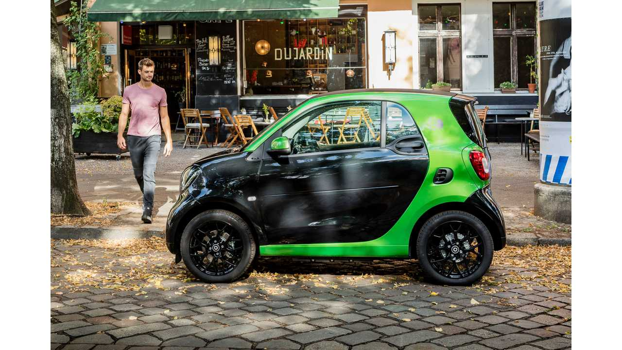 2017 Smart Fortwo Electric Drive With 160 Km 100 Miles Range Nedc