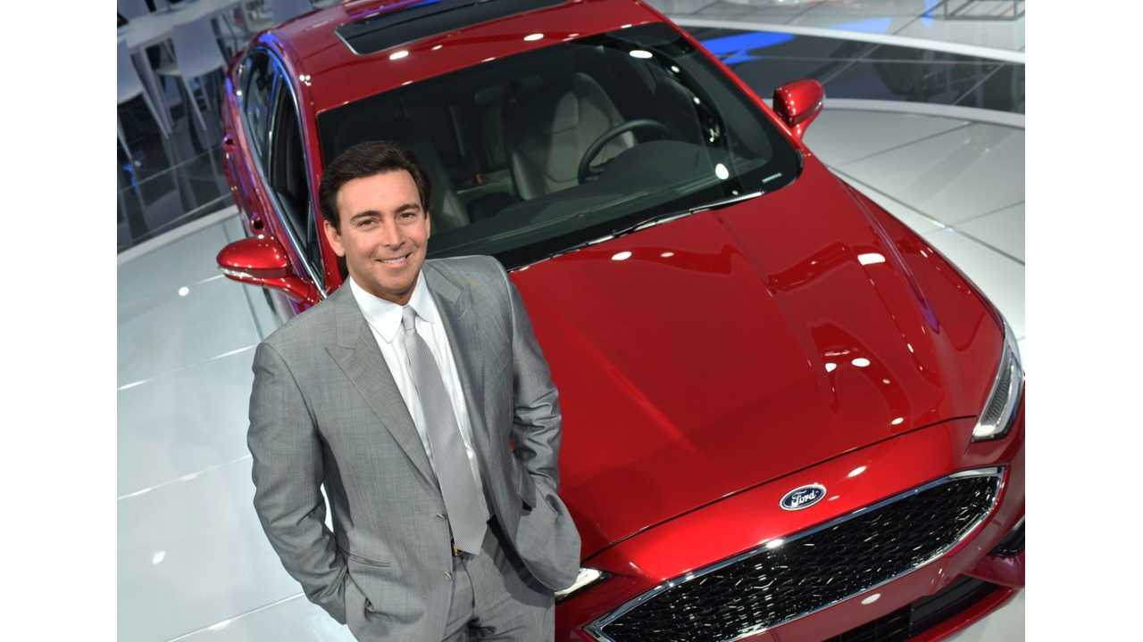 Fees to drive a petrol vehicle? Ford CEO Mark Fields would likely not be a fan