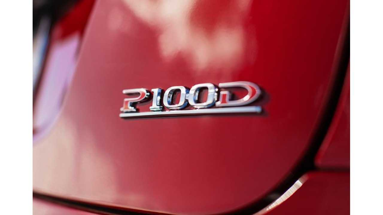 P100D Badge - Deal Applies To Model S P100D And Model X P100D Only