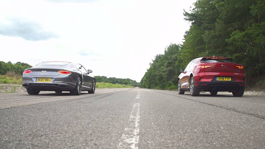 Watch Jaguar I-Pace take on Bentley Continental GT