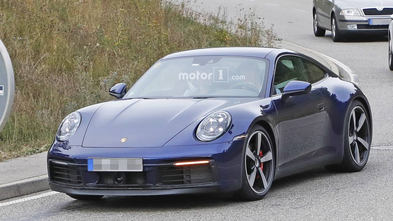 2019 Porsche 911 Almost Undisguised Spy Photos Motor1