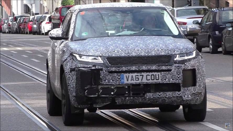 Range Rover Evoque Spied In Stuttgart Showing Some Battle Damage